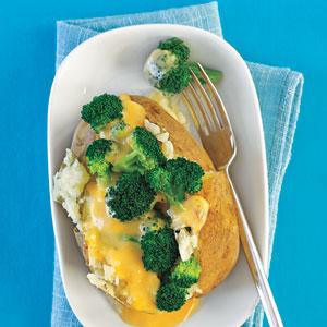 Broccoli and Cheese-Stuffed Baked Potatoes