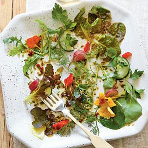 Walk-Around-the-Garden Salad with Herb Vinaigrette