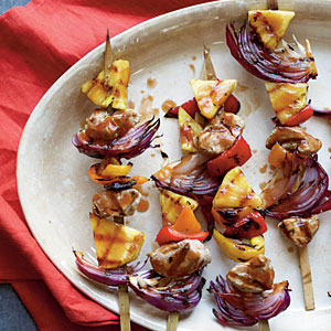Grilled Chinese Sweet and Sour Pork Kabobs