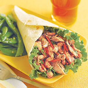 Hoisin Chicken Wraps