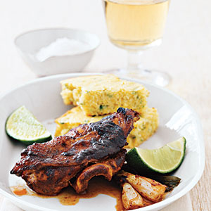 Jerk Chicken with Corn Bread