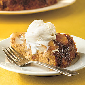 Pear-Date Upside-Down Cake