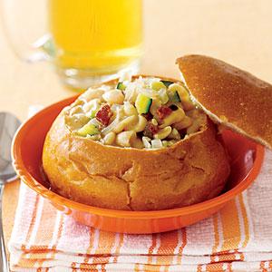 White-Bean Zucchini Soup