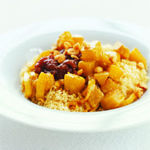 Butternut Squash with Couscous and Chutney