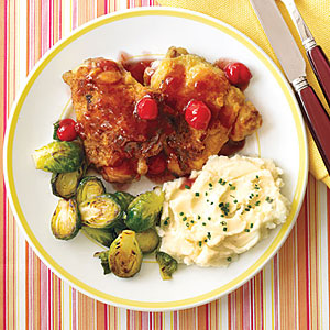 Chicken Thighs with Cherry Sauce