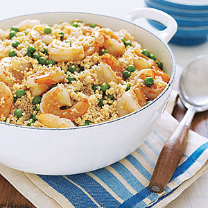 Whole-Wheat Couscous with Shrimp