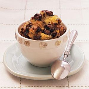 Chocolate-Raisin Bread Pudding