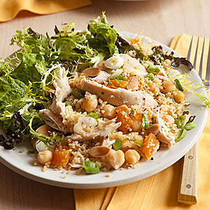 Couscous with Chicken, Chickpeas and Apricots