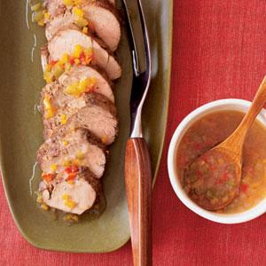 Roast Pork Tenderloin with Pepper Jelly Glaze