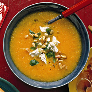 Golden Gazpacho with Feta