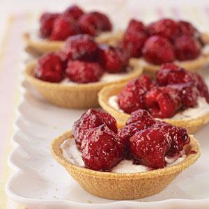 Raspberry-Cream Cheese Tarts