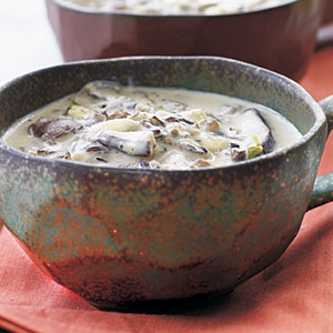 Fresh Ginger, Mushroom, and Basil Soup