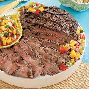 Grilled Flank Steak with Confetti Salsa