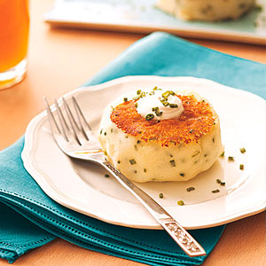 Sour Cream-Chive Potato Cakes