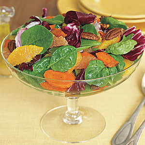 Spinach, Roasted Carrot and Radicchio Salad
