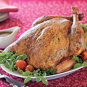 Herb-Roasted Turkey with Gravy