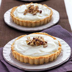 White Chocolate-Hazelnut Tarts