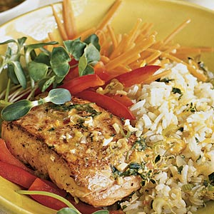 Crispy Orange-glazed Salmon