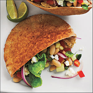 Southwestern White Bean Pita Pockets