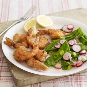 Snow Pea and Radish Salad With Ginger-Lime Vinaigrette