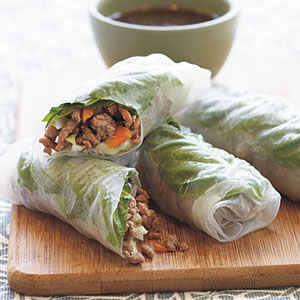 Turkey-Basil Rolls