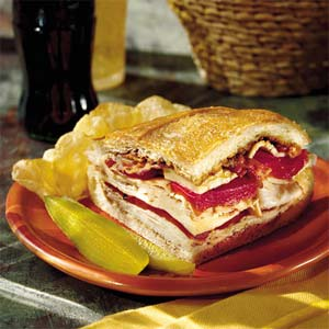 Turkey, Bacon, and Havarti Sandwich