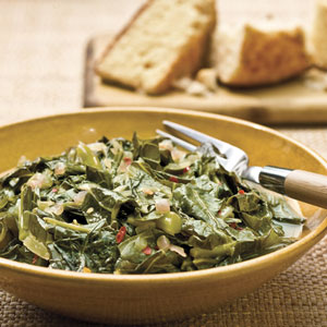 Collards With Red Onions