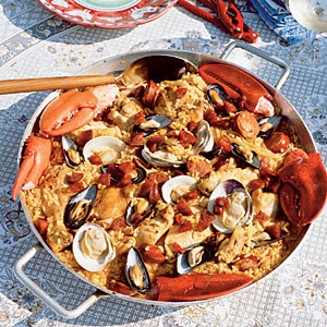 Seafood-and-Chicken Paella