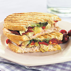 Turkey Antipasto Panini
