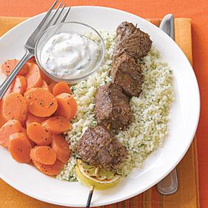 Moroccan-Spiced Lamb Kebabs