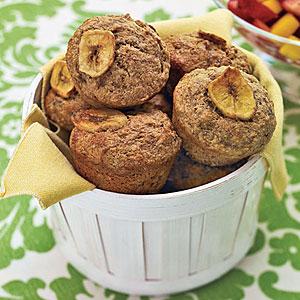 Whole-Wheat Banana Muffins