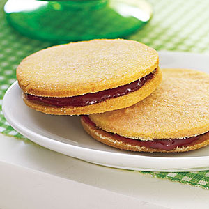 Raspberry Sandwich Cookies