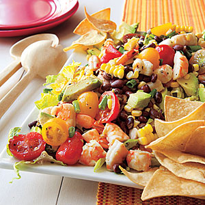 Black Bean, Corn and Shrimp Salad
