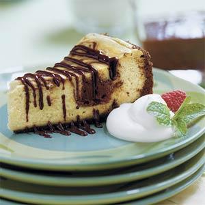 Chocolate-Coffee Cheesecake With Mocha Sauce