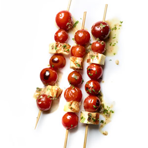 Cherry Tomato-Halloumi Skewers
