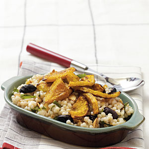 Israeli Couscous with Moroccan-Roasted Butternut Squash