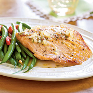 Orange-Glazed Salmon Fillets with Rosemary