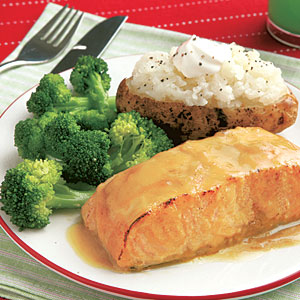 Maple-Glazed Salmon Fillets