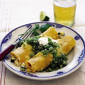 Chicken Enchiladas with Green Salsa