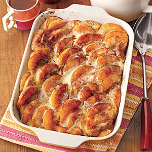 Overnight Peaches-and-Cream French Toast