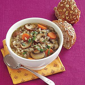 Quick Mushroom-Barley Soup