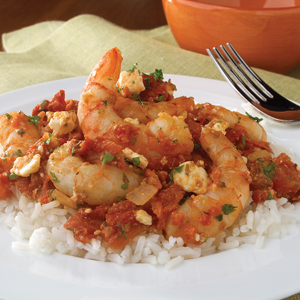 Shrimp with Tomato & Feta