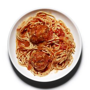 Whole-Wheat Spaghetti and Meatballs