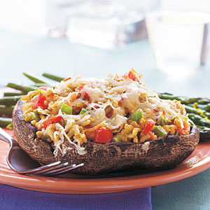 Grain and Vegetable-Stuffed Portobello Mushrooms