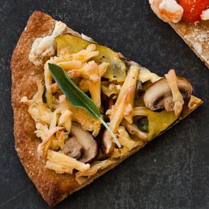 Mushroom, Squash, and Smoked Gouda Pizza (The Healthy Indulgence)