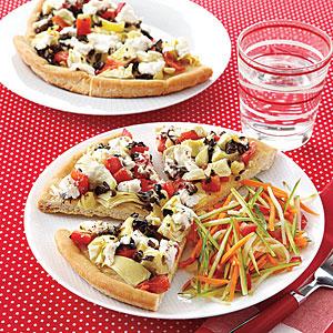 Vegetable Flatbread Pizzas