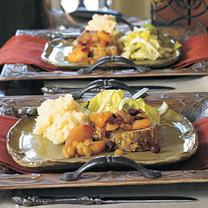 Rosemary-Dijon Roast Pork with Autumn Fruit Compote
