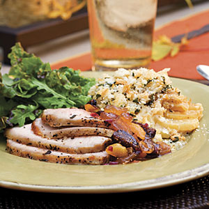Grilled Pork Roast With Fruit Compote
