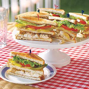 Chicken Salad Club Sandwiches