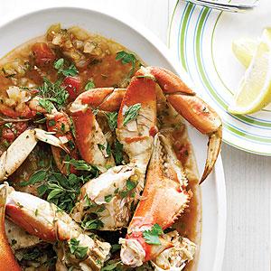 Quick Crab Stew in Fennel-Tomato Broth
